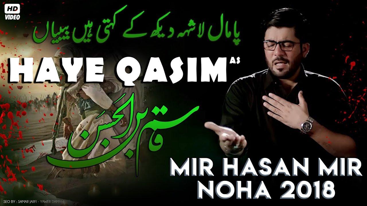 Nohay 2018 | Haye Qasim ع | Mir Hasan Mir New Noha 2018-19 | Noha Mola  Qasim | Nohay 2019