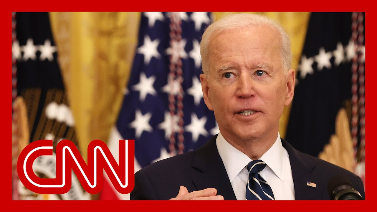Watch Biden's first formal press conference