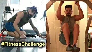 Indian Cricket Players Fitness Challenge - Virat Kohli, Suresh Raina, Ajinkya Rahane, KL Rahul
