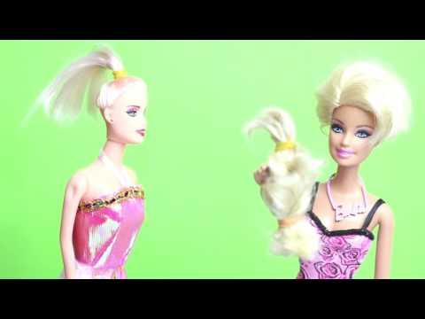 Maşa Ve Barbie Kuaföre Gidiyorlar Ve Saçlarını Kestiriyorlar