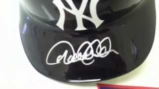 Derek Jeter Signed New York Yankees Full Size Baseball Batting Helmet Steiner Sports and MLB COA