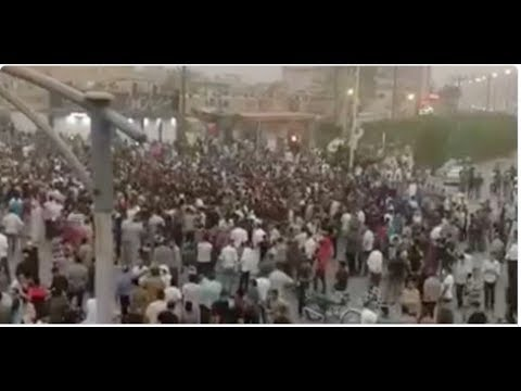 IRAN WATER PROTESTS ENTER 4TH DAY AS ECONOMY IMPLODES AS THEY TAKE TO THE STREETS!