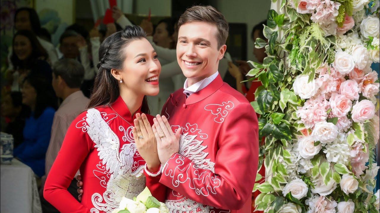 Lễ vu quy của á hậu MC HOÀNG OANH cùng chồng ngoại quốc điển trai   BÍ MẬT VBIZ