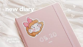 starting my new diary journal with me