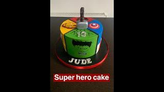 How to make super heroMarvel cake