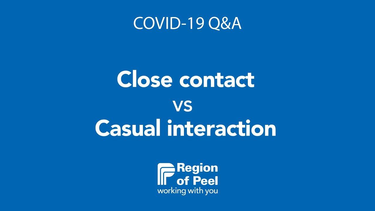 Covid 19 Close Contact Vs Casual Interaction Youtube