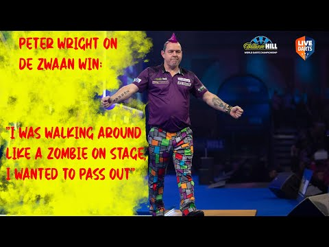 """Peter Wright on De Zwaan win: """"I was walking around like a zombie on stage, I wanted to pass out"""""""