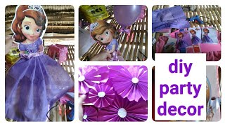 Diy Party Decor /how I Organize A Party /princess Sofia Party /party Ideas /philippine