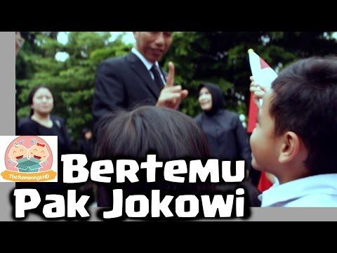 Pak Jokowi Ditanya Bocah Mau Masuk ? Beliau Menjawab