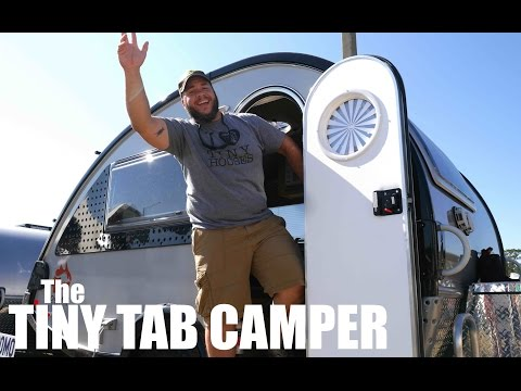 BIG DUDE- tiny tab camper. Full Tour (Tiny House Living)