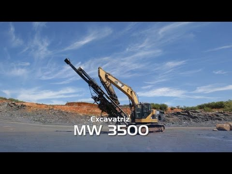 The Excavator Mounted Drilling Rig MW3500
