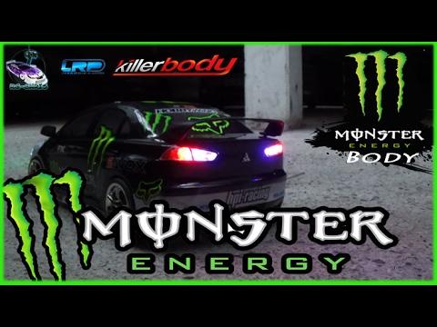 Killerbody Mitsubishi EVO X   1:10 Body [▻] Monster Energy Edition U2022.☆*