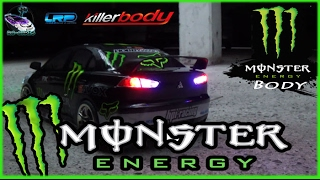 killerbody Mitsubishi EVO X - 1:10 Body [►] Monster Energy Edition •.★*