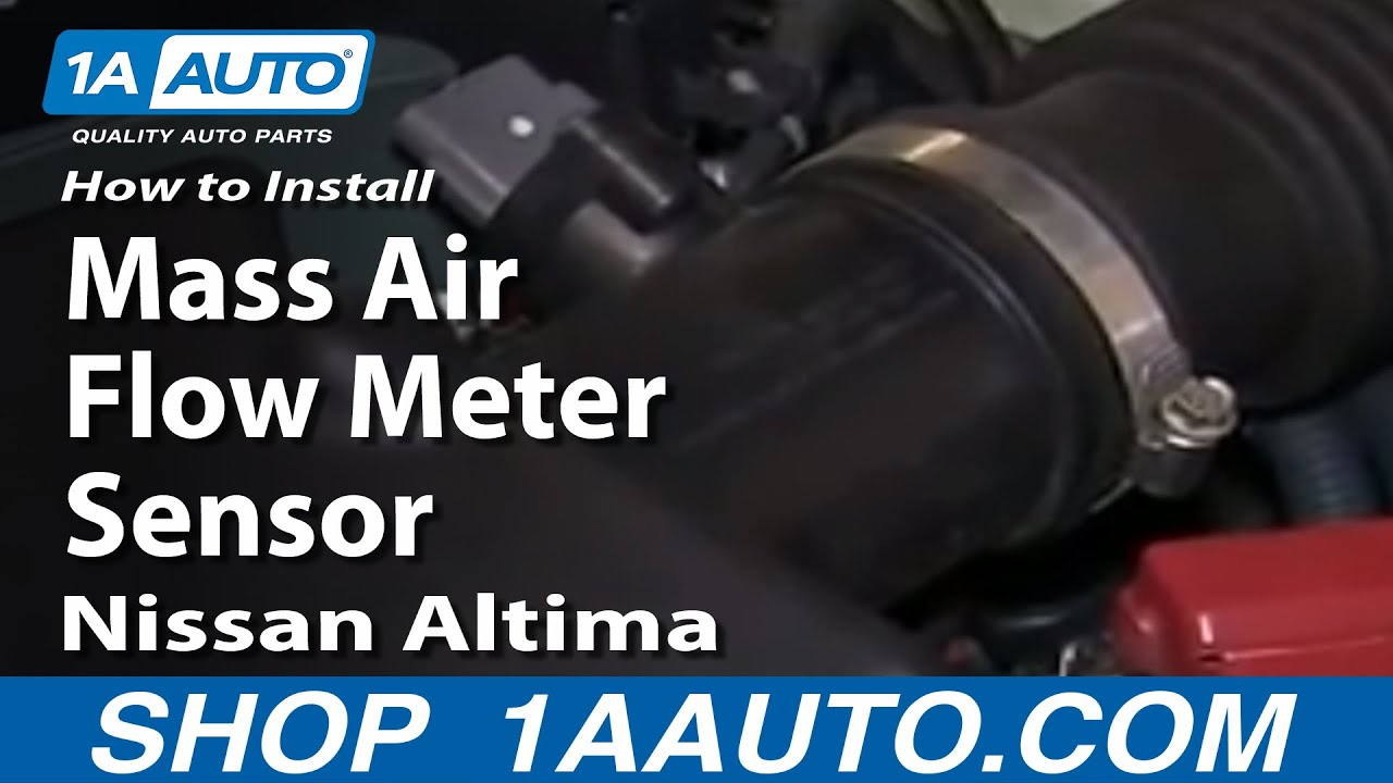 how to replace mass air flow sensor 02 03 nissan altima [ 1280 x 720 Pixel ]