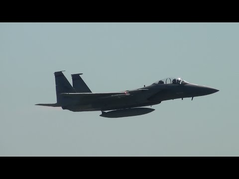 USAF F-15 Takeoff and Unrestricted Climb Portland Airport (PDX)