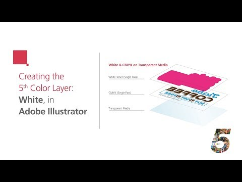 Create the 5th Color Layer - White, for use on Transparent Media