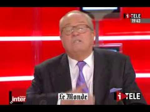 Le franc-parler avec Jean-Marie Le Pen le 26/03/2007