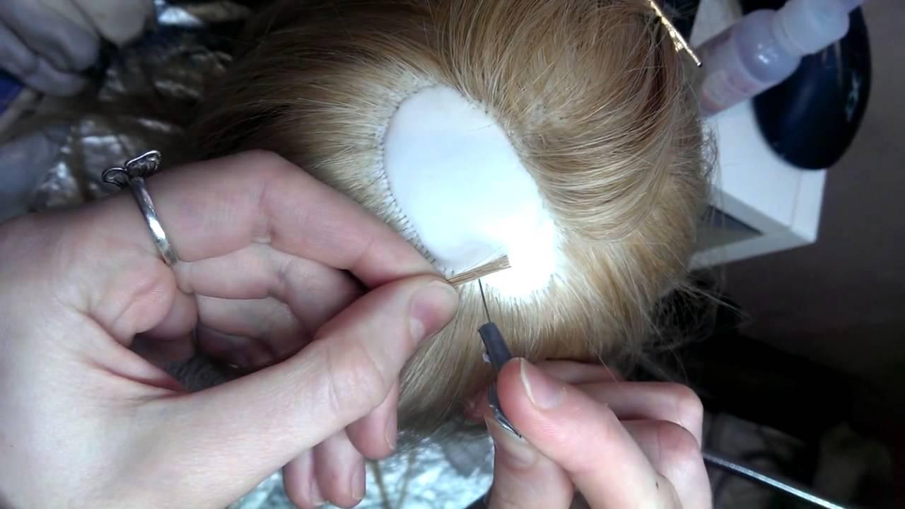 Как сделать волосы для портретная кукла 822