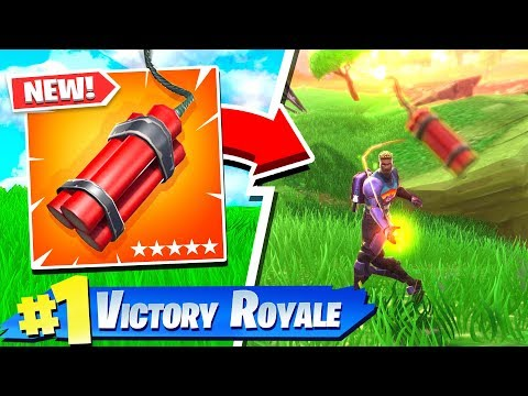FORTNITE *NEW* DYNAMITE GAMEPLAY! NEW ITEM