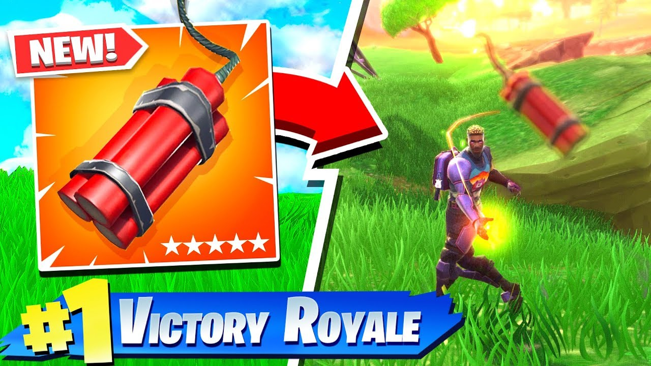 FORTNITE *NEW* DYNAMITE GAMEPLAY! (NEW ITEM)