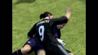 Hilarious Bug From FIFA 12 - Carroll kiss the goalkeeper.flv