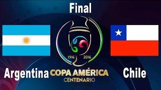 FIFA 16 - COPA AMERICA 2016 - FINAL - ARGENTINA vs CHILE - PS4