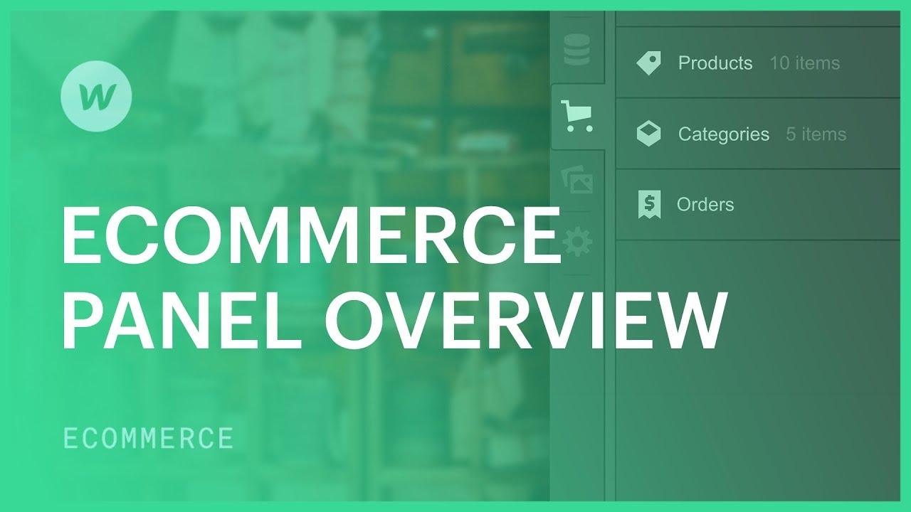 Webflow Ecommerce - Build custom ecommerce stores visually