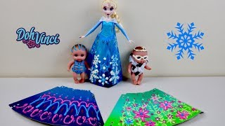 Dolls Craft Toy  Doh Vinci Design A dress Set Queen Elsa and Lil Cutesies Baby Doll