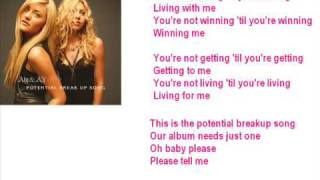 Aly & Aj-Potential Breakup Song - SingAlong