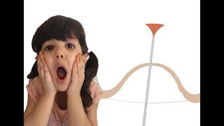 الين تتظاهر باللعب بالقوس السحري ALEEN pretend play with magic arch