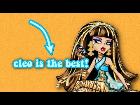 why cleo de nile is the best character from monster high!