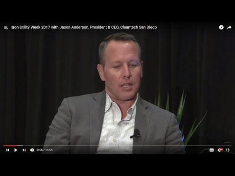 Smart city projects in San Diego with Jason Anderson (Itron Utility Week 2017)