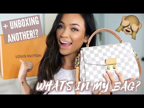 WHAT'S IN MY LOUIS VUITTON CROISETTE + UNBOXING ANOTHER NEW ONE!? | Stephanie Ledda