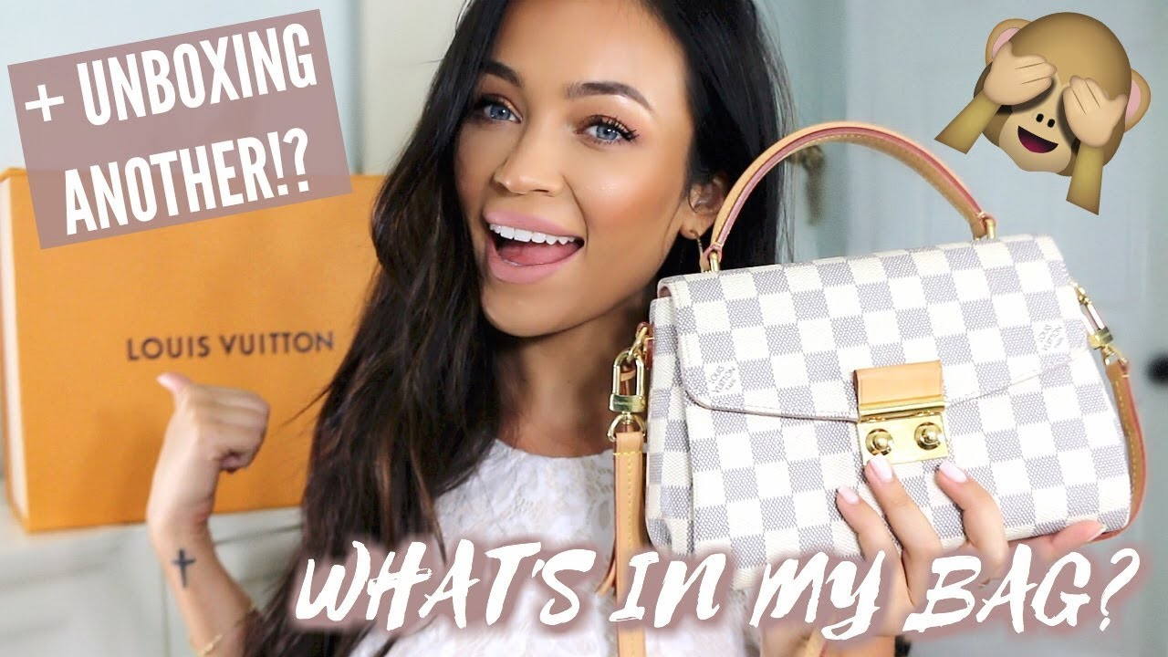 604b98e5cdc2 WHAT S IN MY LOUIS VUITTON CROISETTE + UNBOXING ANOTHER NEW ONE ...