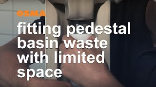 Fitting pedestal basin waste in limited space situations - OSMA HepvO Soil & Waste (en)