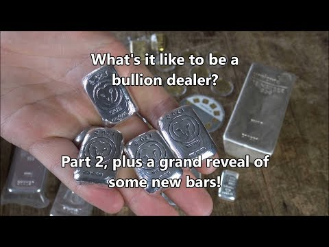 What's it like to be a bullion dealer Part 2 - Unveiling Exclusive Silver Bars!!