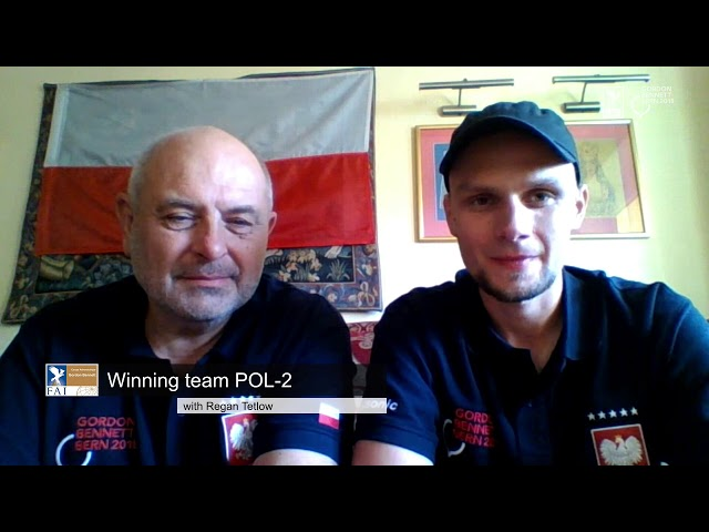 REPLAY - Coupe Aéronautique Gordon Bennett 2018 - Interview POL-2 WINNER Post-Flight