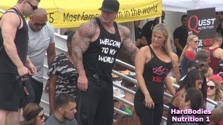 Lou Ferrigno and Rich Piana at Muscle Beach on Labor Day 2013