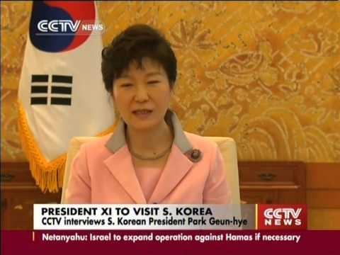 CCTV interviews S.Korean President Park Geun-hye