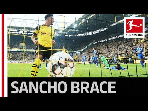 Jadon Sancho Unstoppable - 2 Goals and New Records for Dortmund's Young Gun Mp3