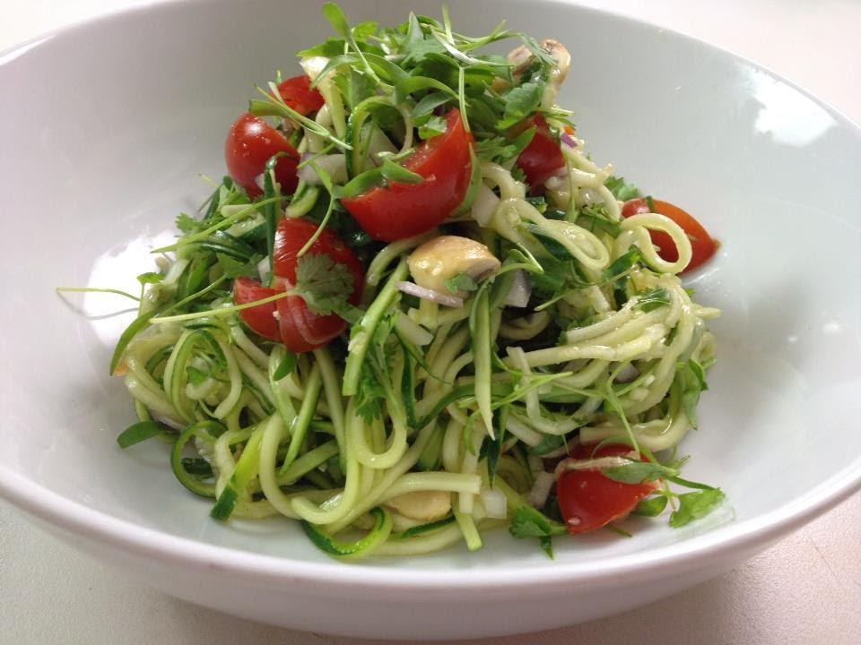 Sexy raw zucchini pasta dara dubinet youtube forumfinder Image collections