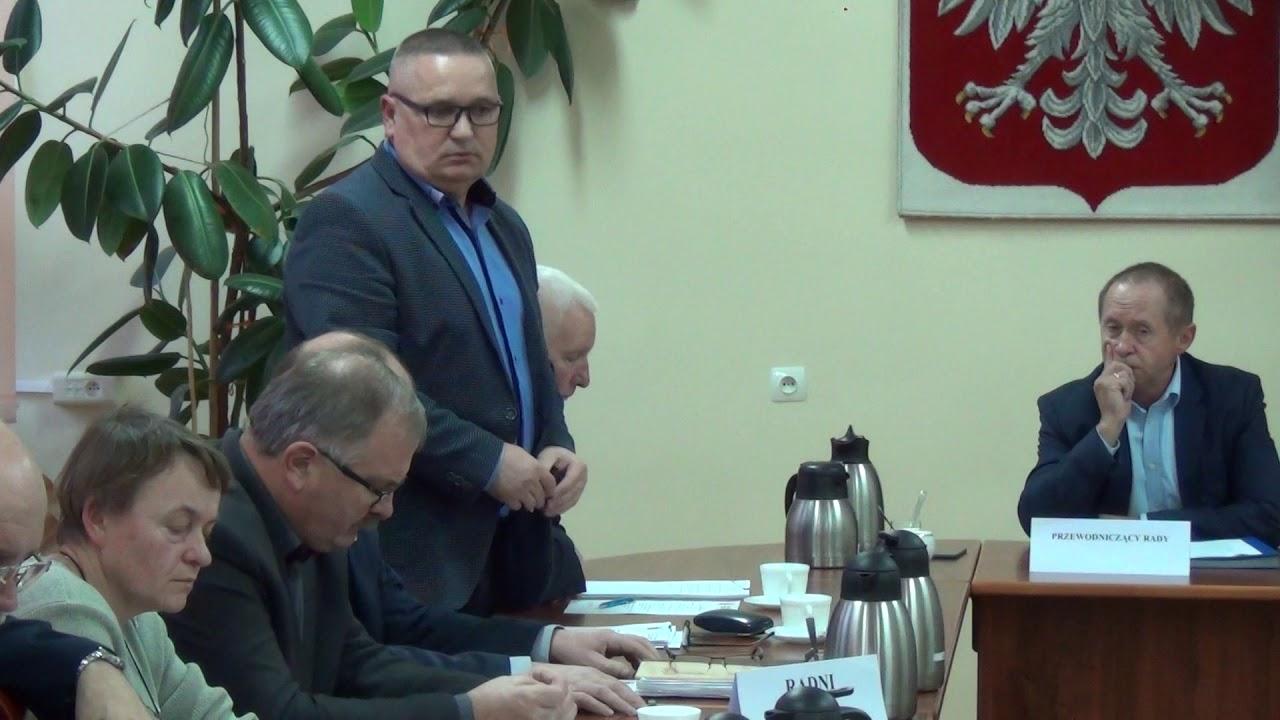 XXXIII sesja Rady Miejskiej w Dzierzgoniu – 24.11.2017 cz  1