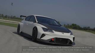 Испытания нового гоночного электромобиля Cupra e Racer Хорватия