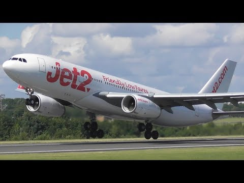 Plane Spotting at Manchester Airport - RW23L Close Up Rotations!