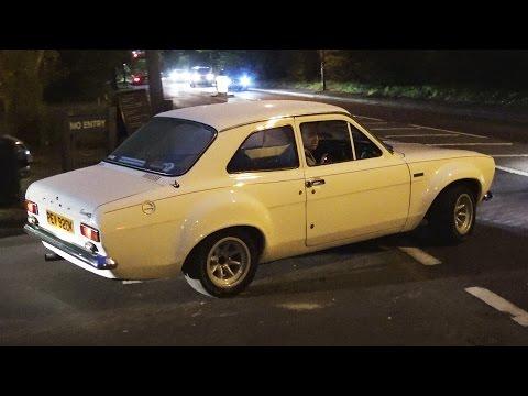 Classic Cars Leaving a Car Meet - April 2017