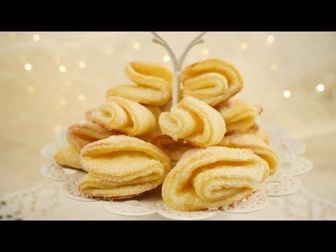 Russische Quarkplätzchen | Weihnachtskekse mit Zuckerkruste