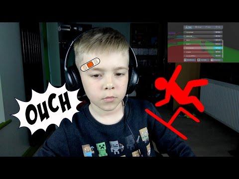 MASSIVE CHAIR FALL EPIC GAMING FAIL PLAYING ROBLOX FUNNY KID GAMING