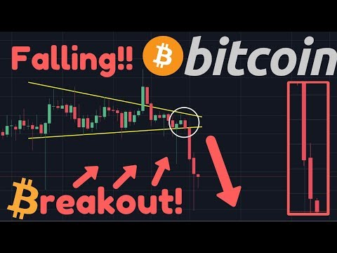 BITCOIN FALLING!! The Breakout CAME!! Key Support Broken = BEARISH!