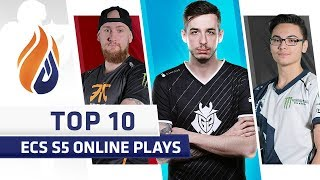 Top 10 ECS S5 Online Plays - Feat. kennyS, Twistzz, Krimz!