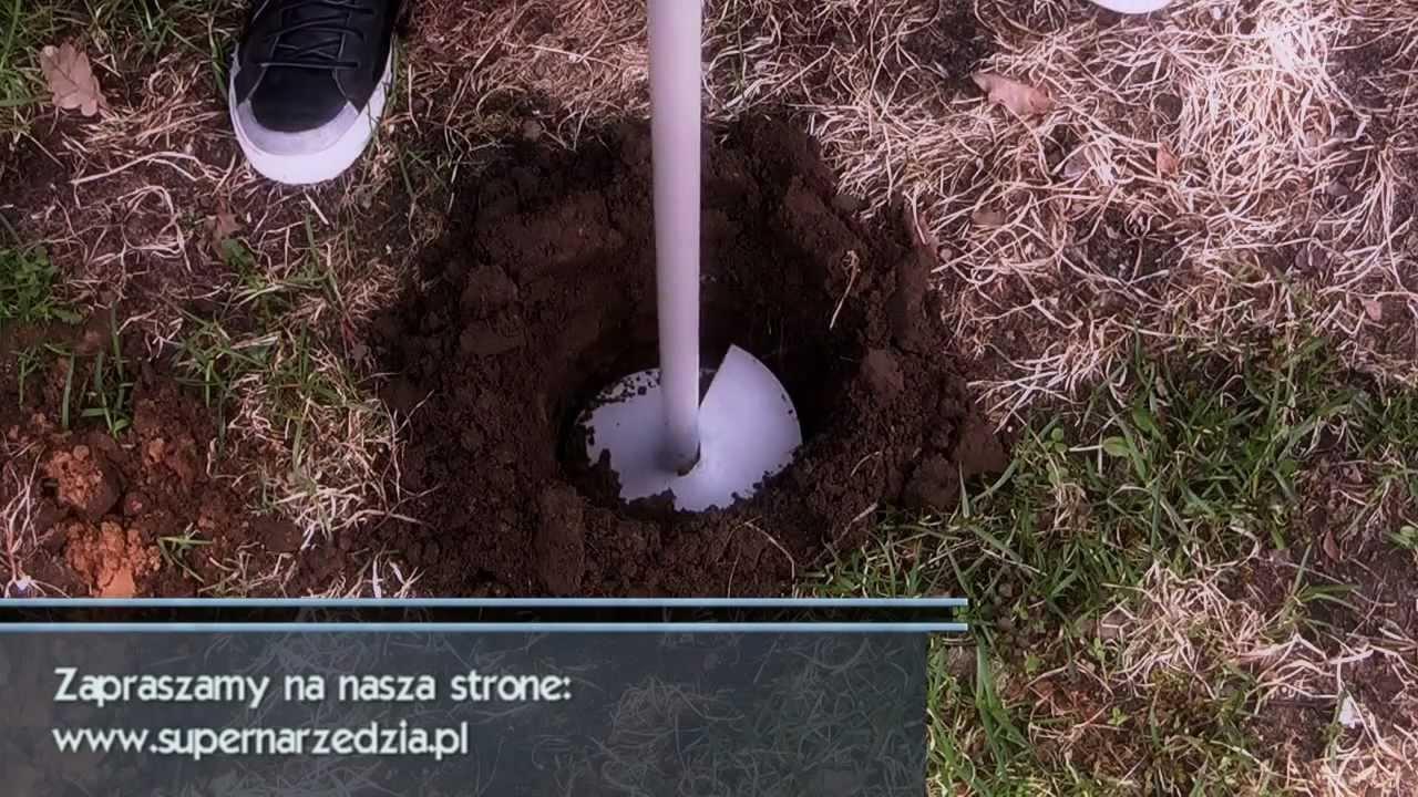 Zupełnie nowe Dołownik - wiertnica świder glebowy - YouTube PA15